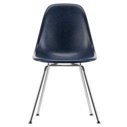 Vitra Eames DSX Fiberglass Stuhl mit verchromtem Untergestell