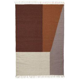 Ferm Living Kelim Borders Teppich Extra Large 250x160
