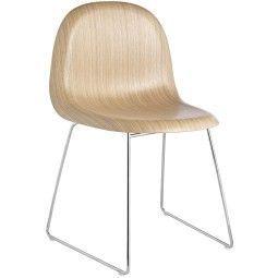 Gubi Gubi 1 Stuhl Wood mit Chrom Untergestell