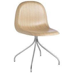 Gubi Gubi 9 Stuhl Wood mit Chrom Untergestell