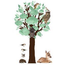 KEK Amsterdam Forest Friends Tree Wandsticker