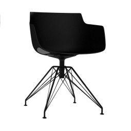 MDF Italia Flow Slim Armchair Stuhl mit anthrazitem LEM Untergestell