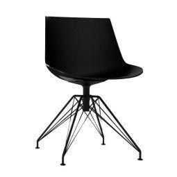 MDF Italia Flow Chair Stuhl mit anthrazitem LEM Untergestell