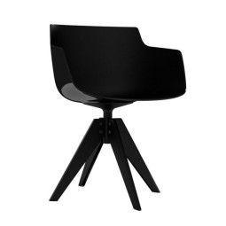 MDF Italia Flow Slim Armchair Stuhl mit anthrazitem VN Untergestell