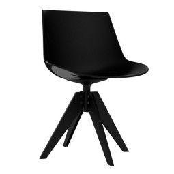 MDF Italia Flow Chair Stuhl mit anthrazitem VN Untergestell