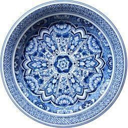 Moooi Carpets Delft Blue Plate Teppich 250 Wolle