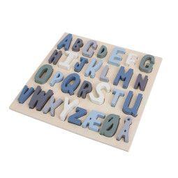 Sebra ABC Holzpuzzel Blau