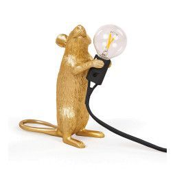Seletti Mouse Lamp Standing Tischleuchte Gold